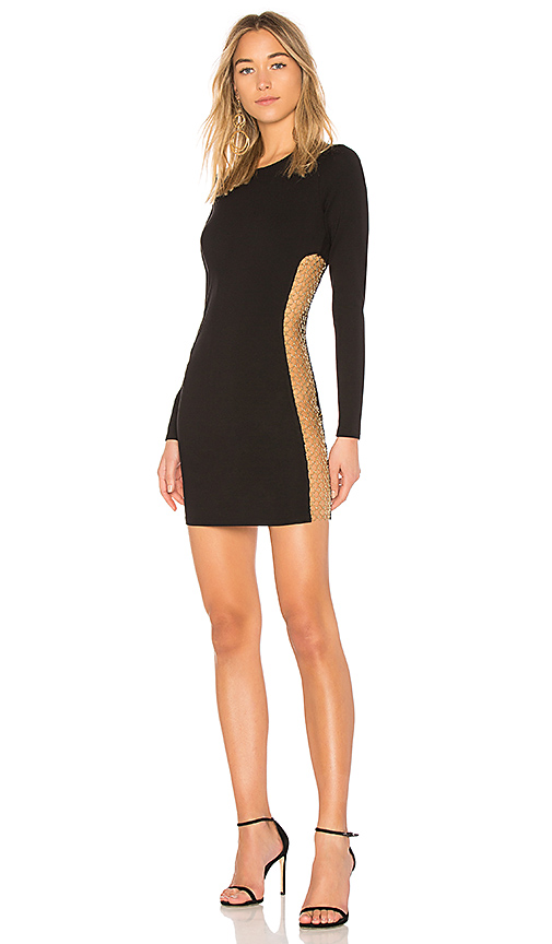 h:ours Miller Dress in Black. Size XS.