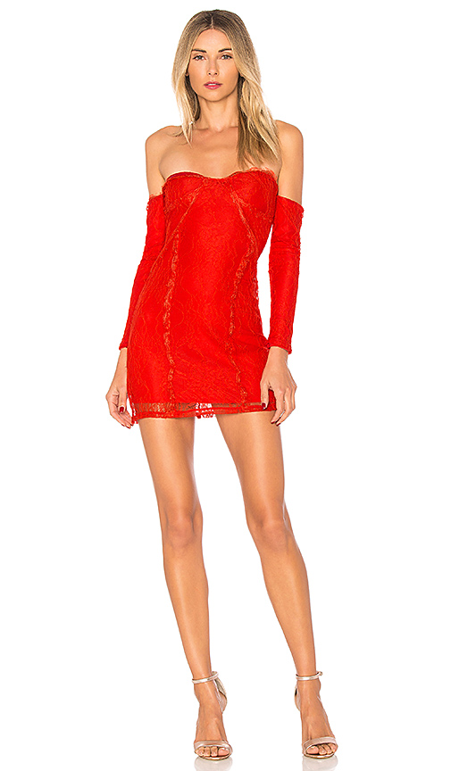 h:ours Lexi Off Shoulder in Red