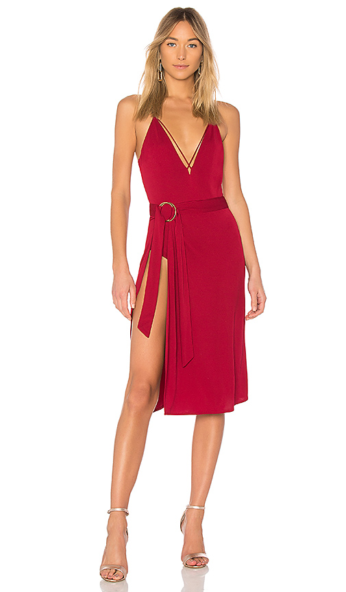 h:ours Ariel Dress in Burgundy