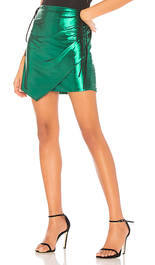 h:ours Rosalie Skirt in Green. - size L (also in M,S,XS, XXS)