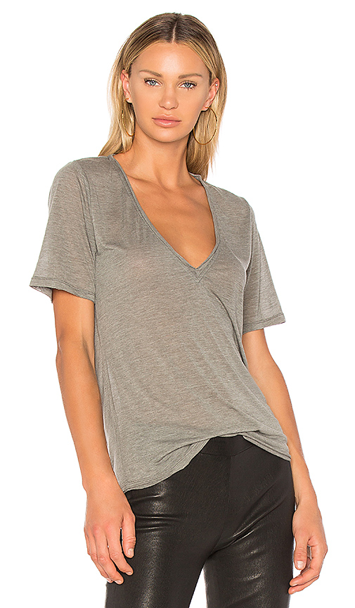 h:ours Devon Tee in Gray
