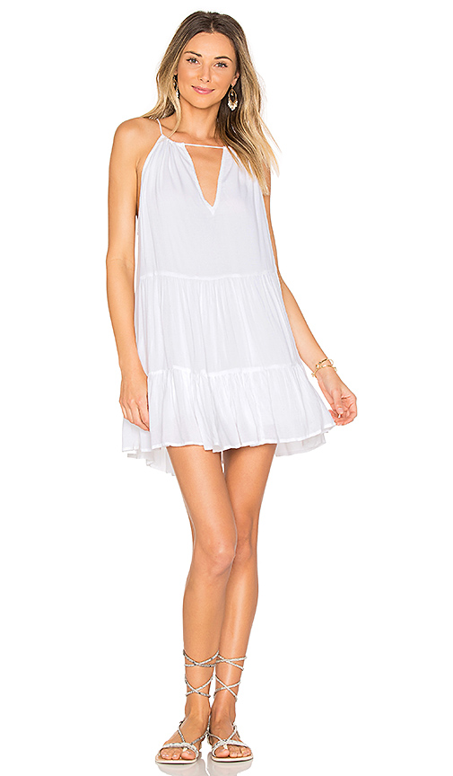 Indah Joy Mini Dress in White
