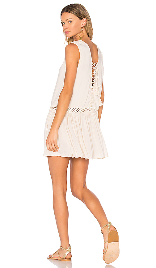 Photo of Indah Moonbeam Mini Dress in Beige - shop Indah dresses sales
