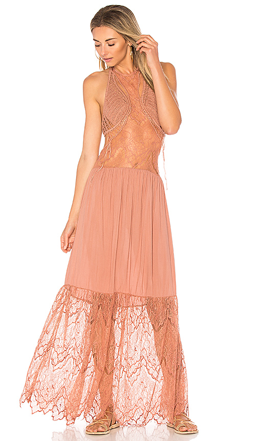 Indah Whisky Maxi Dress in Rose