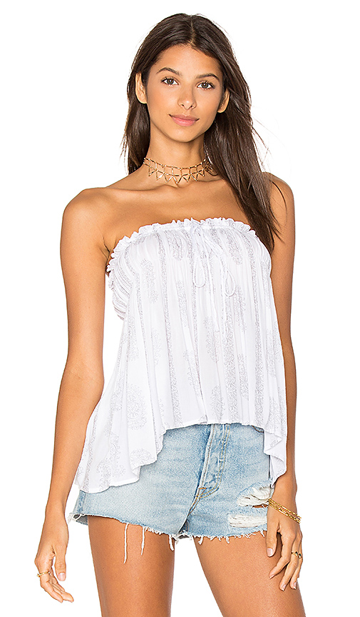 Indah Mary Top in White