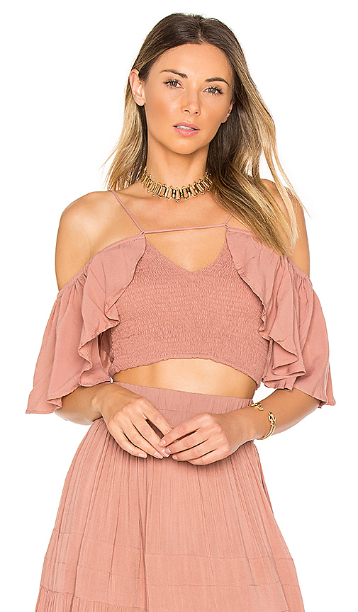 Indah Roxy Top in Rose