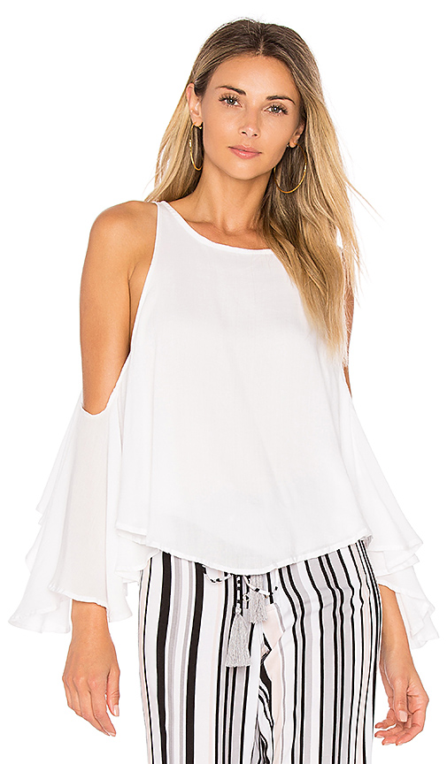 Indah Escher Top in White