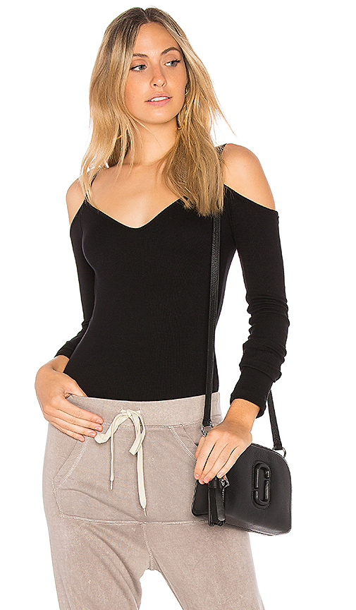 Indah Tempura Bodysuit in Black
