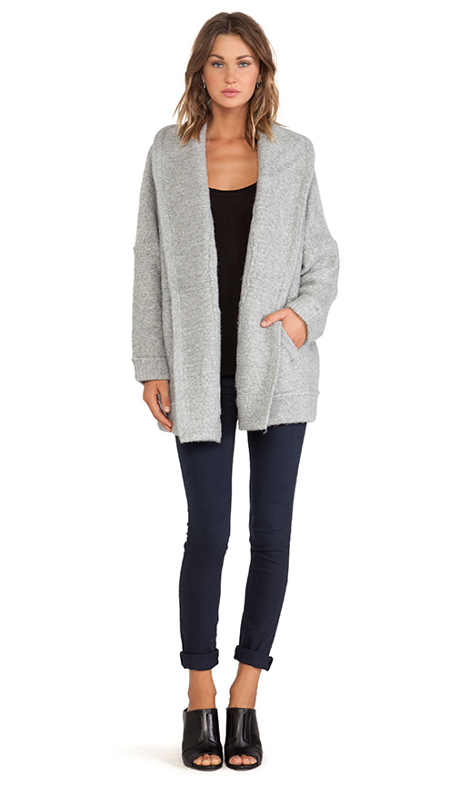 Inhabit Sweater Coat in Grey