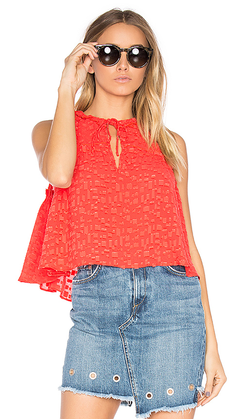 IRO Ragnhild Top in Red
