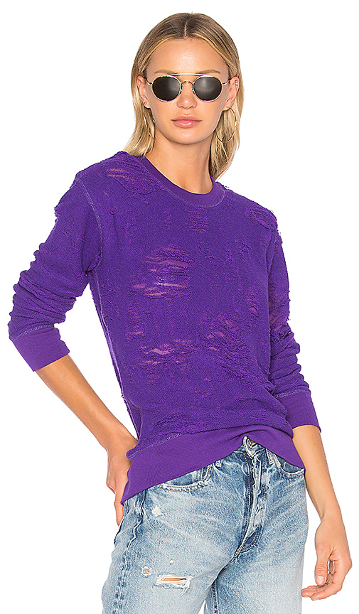 IRO. JEANS Cyzique Knit in Purple. - size L (also in M,S,XS)