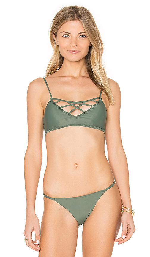 Issa de' mar Hina Bikini Top in Green