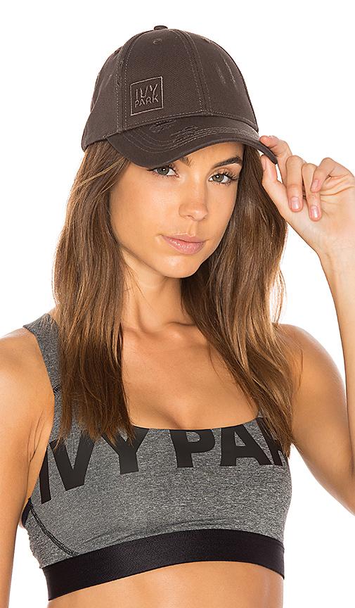 IVY PARK Distressed Cap in Black