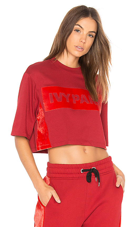 IVY PARK Short Sleeve Tee in Red