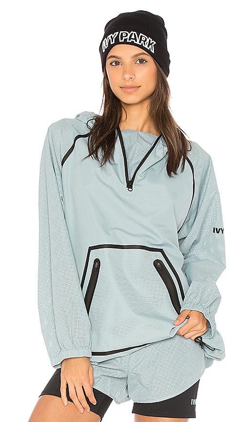 IVY PARK Mesh Sleeve Hoodie in Blue