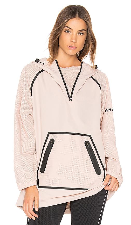 IVY PARK Mesh Sleeve Hoodie in Pink