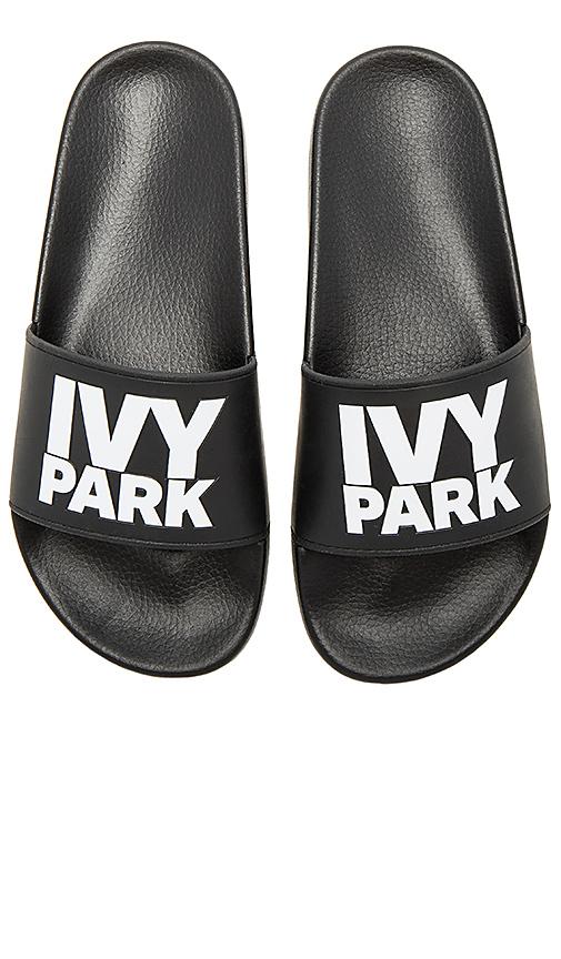 IVY PARK Logo Sliders in Black