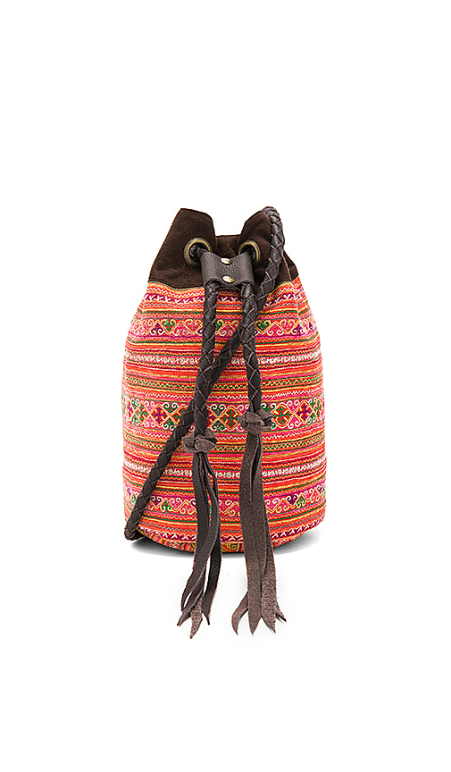 JADEtribe Summer Bucket Bag in Orange