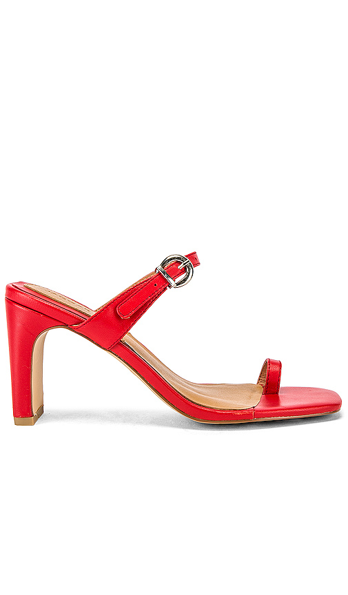 Jaggar Shoes JAGGAR CONTEMPORARY LEATHER HEEL IN RED.