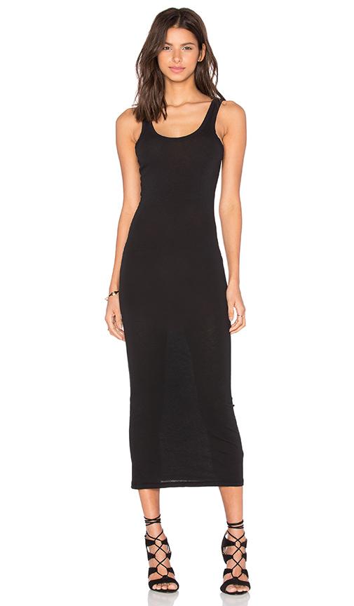 James Perse Long Slip Dress in Black