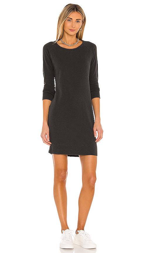 James Perse Raglan Sweatshirt Dress in Charcoal