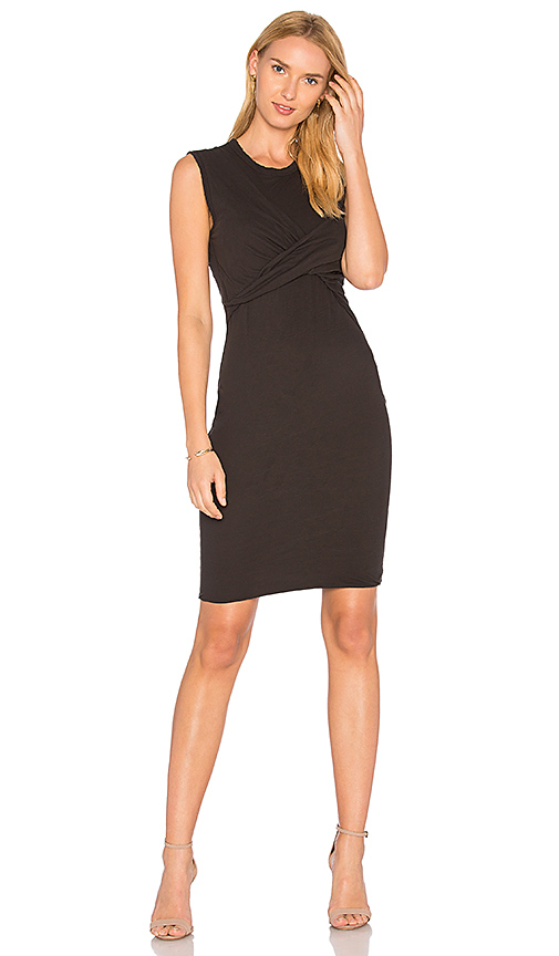 James Perse Twisted Tube Dress in Black
