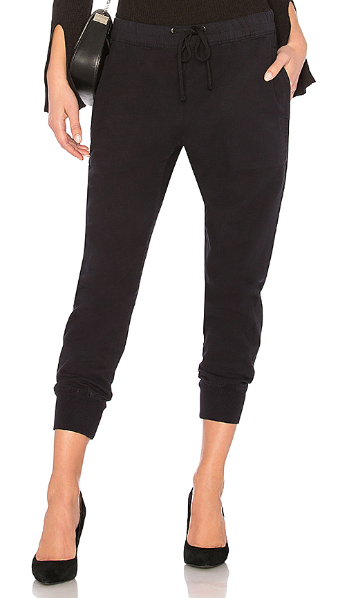James Perse Zip Pocket Sweatpant in Navy. - size 0 (XXS/XS) (also in 1 (XS/S),2 (S/M),3 (M/L),4 (L/XL))