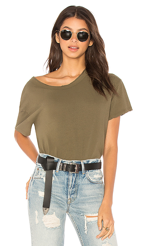 James Perse Boxy Tee in Army