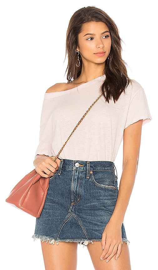 James Perse Boxy Tee in Pink