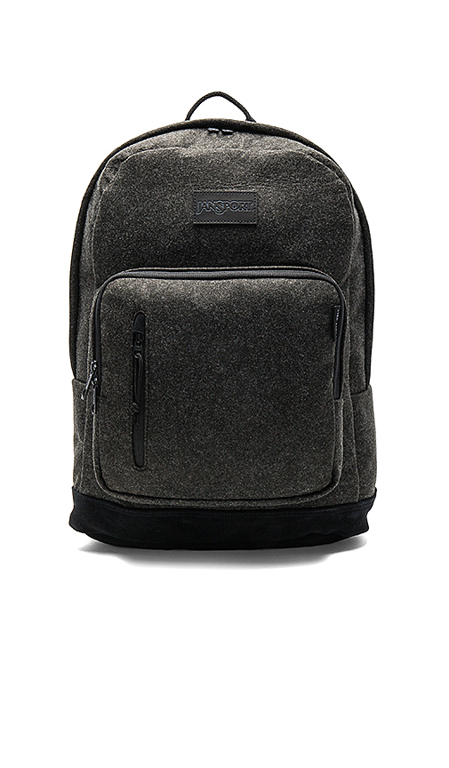 Jansport x I Love Ugly Axiom Backpack in Charcoal.