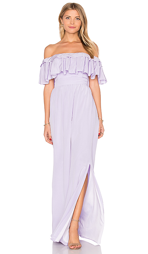 Jay Godfrey Stavro Maxi Dress in Lavender