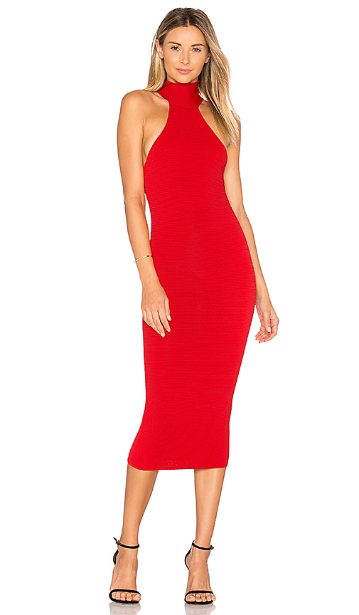 Jay Godfrey Fox Dress in Red