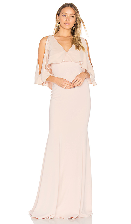 Jay Godfrey Page Gown in Blush