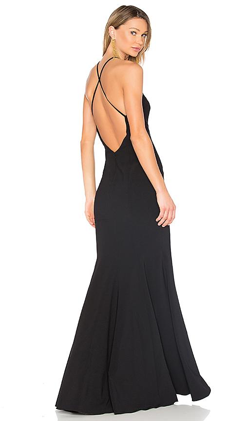 Jay Godfrey Kirani Gown in Black