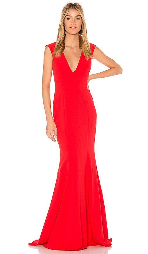 Jay Godfrey Victoria Gown in Red