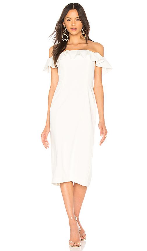 Jay Godfrey Rollins Midi Dress in White