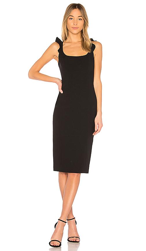 Jay Godfrey Marois Midi Dress in Black