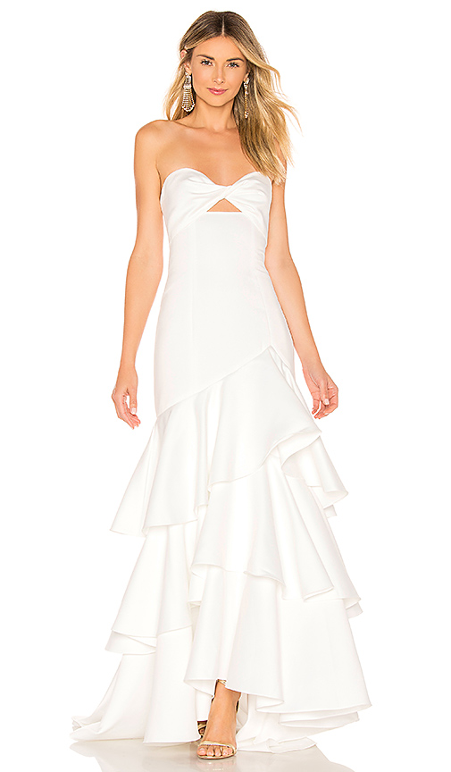 Jay Godfrey Harvey Gown in White. Size 0,2.