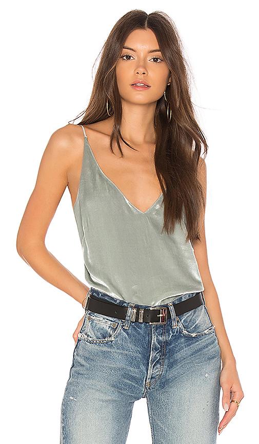 J Brand Lucy Velvet Cami in Gray. - size XS (also in L,M,S)