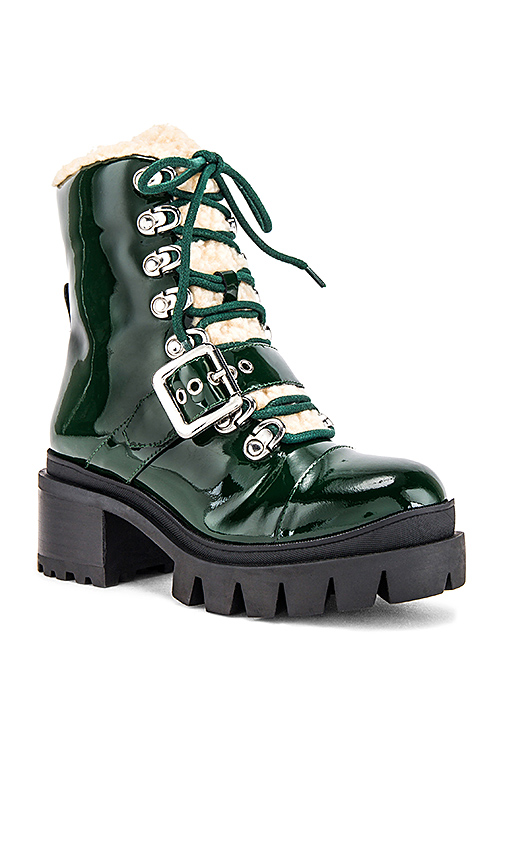 Jeffrey Campbell Checked Boot in Green
