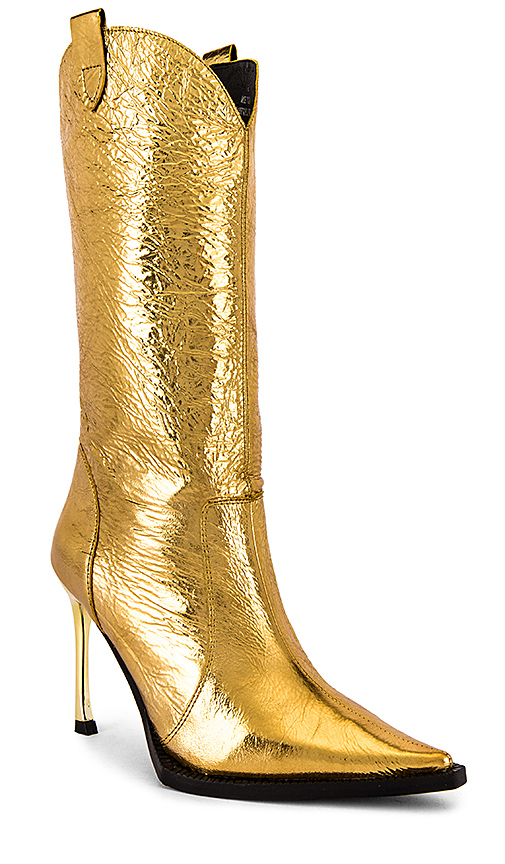 Jeffrey Campbell Cognitive Boot in Metallic Gold