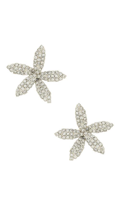 Jennifer Behr Orchid Earring in Metallic Silver