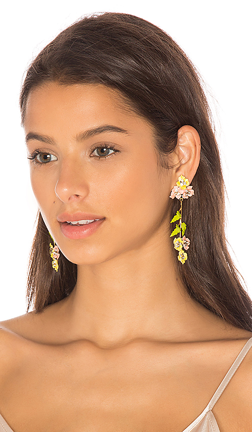 Jennifer Behr Madeline Dangle Earring in Metallic Gold