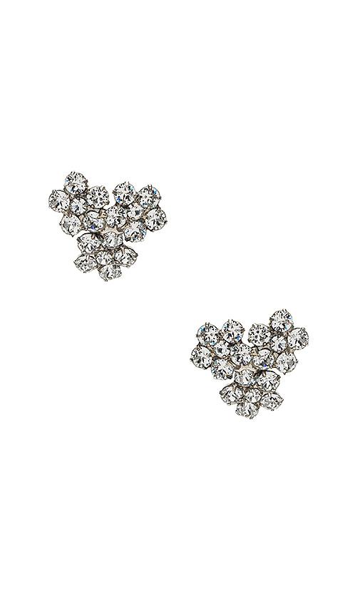 Jennifer Behr Violet Stud Earrings in Metallic Silver