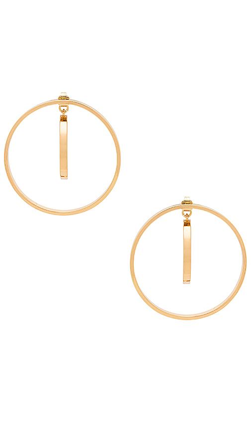Jenny Bird Rise Hoops in Metallic Gold