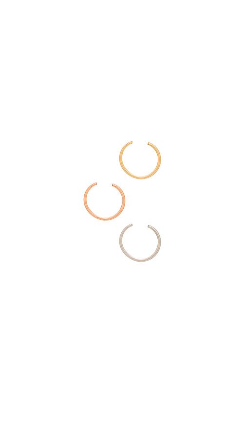 Jenny Bird Cleo Ear Cuff Set in Metallic Gold