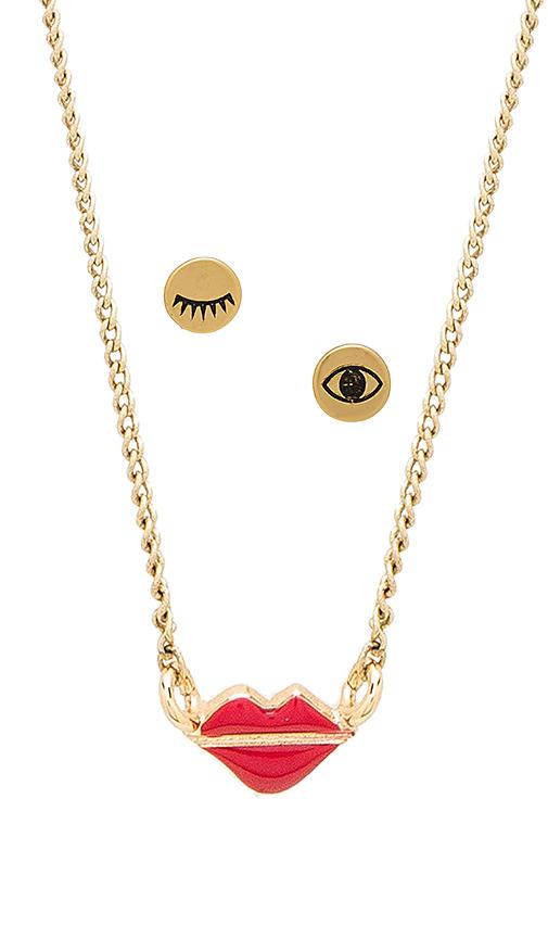 Jenny Bird Kiss My Face Set in Metallic Gold