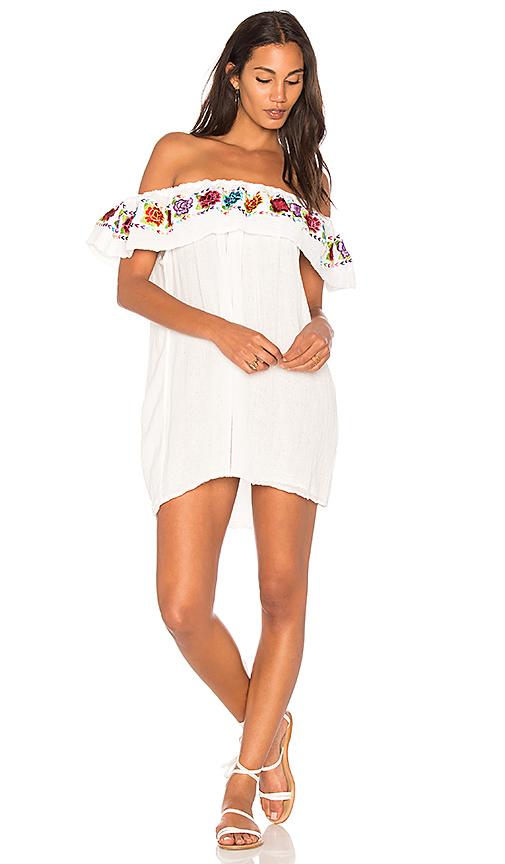 Jen's Pirate Booty Las Rosas Senorita Mini Dress in White