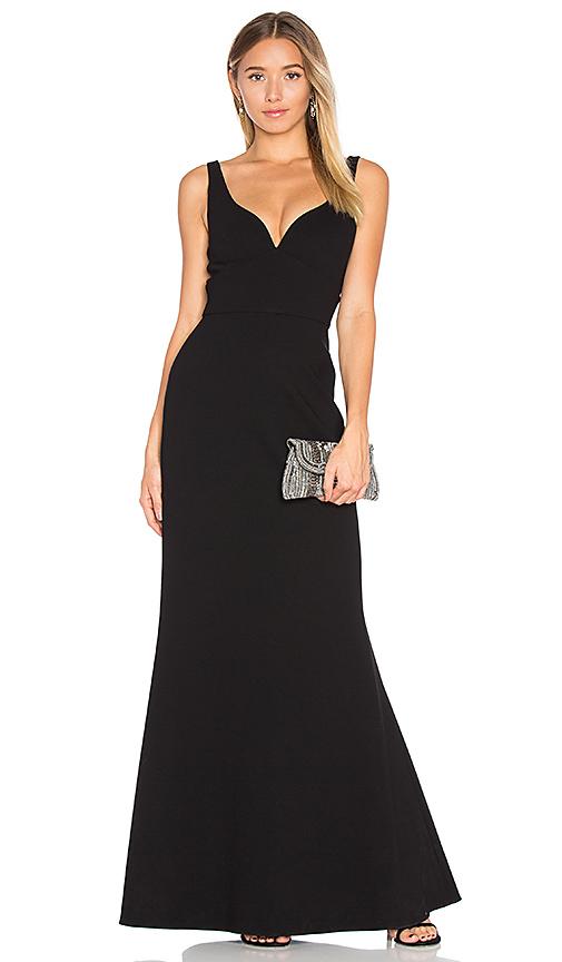 JILL JILL STUART Sleeveless Gown in Black