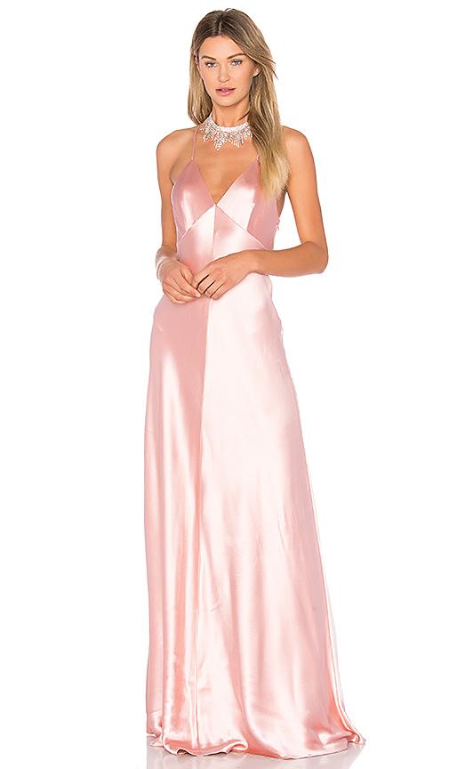 JILL JILL STUART Satin Slip Gown in Pink